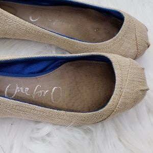 Toms Knitted Cream Loafers